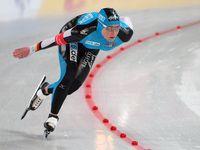 Claudia Pechstein beim Weltcup in Hamar, 2008