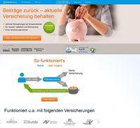 Screenshot der Webseite von friendsurance.de