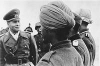Erwin Rommel inspiziert die Indische Legion im besetzten Frankreich, Februar 1944 (Symbolbild)