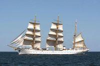 Das Segelschulschiff Gorch Fock nach seiner Werftzeit unter Segeln in der Kieler Bucht. Bild: Ann-Kathrin Fischer / Marine