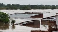 """Zyklon """"Idai"""": Überschwemmte Häuser in Tete, Mosambik"""
