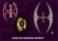"""Logo Vergeleich Sufi Symbol vs Justcavalli.Bild: """"obs/Sufirights.org"""""""