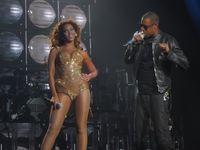 Jay-Z mit seiner Frau Beyoncé Knowles.