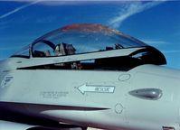 Kanzel einer F16 nach Vogelschlag