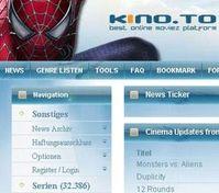 kino.to: Abschaltung verschreckt Internet-Piraten. Bild: kino.to