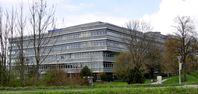 Verwaltungsgebäude am Hauptsitz in der Robert-Bosch-Straße in Ravensburg.