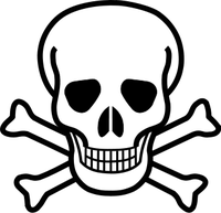 Der Totenkopf als Symbol für giftige Stoffe