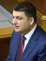 Wolodymyr Hrojsman als Parlamentspräsident (2014)