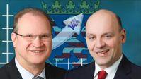 Klaus Herrmann und Robert Lambrou, Landessprecher der hessischen AfD