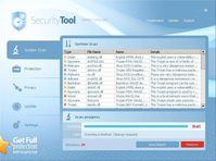 "Startbildschirm des ""Security Tool"" Grafik: BitDefender"