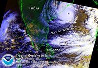 Zyklon vor der indischen Küste (Symbolbild)