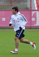 beim Training auf dem Gelände des FC Bayern München (2018)