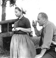 Ursula Karusseit und Manfred Krug 1968 im DFF-Fernsehfilm Wege übers Land
