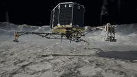 Landung von Philae auf Tschurjumow-Gerasimenko (Künstlerische Darstellung)