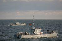 Ferngelenkten Minenräumdrohnen SEEHUND in der Kieler Fjörde während der Übung SQUADEX Bild:     PIZ Marine