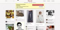 Screenshot der Startseite von Pinterest