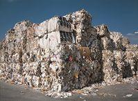 "Altpapierlager.  Bild: ""obs/Gesellschaft für Papier-Recycling/VDP"""