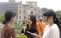 Soka Gakkai members conducting a peace awareness survey in Hiroshima, Japan [Bild: Seikyo Shimbun]