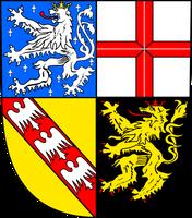 Das Landeswappen des Saarlandes