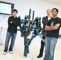 Roboter MABEL: Elf km/h mit Kniegelenk ist Rekord. Bild: UMich