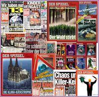"""Vergangene Verschwöhrungstheorien in Mainstream-Medien, die sich zwischenzeitlich alle als """"Fake-News"""" herausgestellt haben (Symbolbild)"""