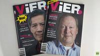 Die ersten beiden Hefte des neuen Magazins ViER.