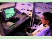 Dennis 'styla' Schellhase bei seinen FInalvorbereitungen für FIFA 2005