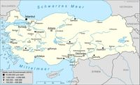 Karte der Türkei Bild: Thomas Steiner / wikipedia.org