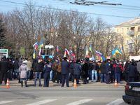 Protestierende in Luhansk, 1. März 2014