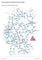 ADAC Stauprognose: Dauerbaustellen auf Deutschlands Autobahnen.  Bild: ADAC Fotograf: ADAC