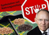E-Mail-Protestaktion von foodwatch an den Bundesfinanzminister  für eine wirksame Eindämmung der Agrar-Spekulation