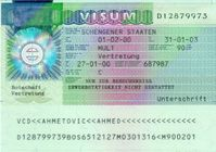 Deutsches Schengen Visum in einer älteren Version