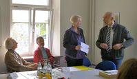 v.l.n.r.: Wilfried Franke, Lotta Lenski, Ulrike Lenski (GOL), Simone Ritter, Landwirt Zentner