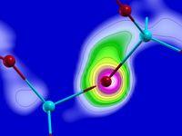 Computersimulationen zeigen, wie Elektronen von einem Atom wegfließen und sich fortbewegen.