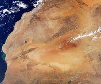 Der nördliche Teil Westafrikas im Satellitenbild