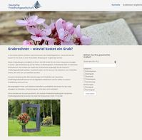 """Bild: Screenshot der Webseite """"www.grabrechner.de"""""""