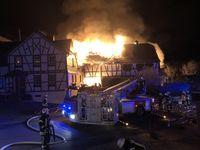Brand Fachwerkhaus Herborn Bild: Polizei
