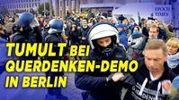 """Bild: SS Video: """"Tumult bei Querdenken-Demo in Berlin: Polizei zweifelte Atteste an"""" (https://youtu.be/ODzDkb8kHng) / Eigenes Werk"""