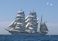 Die GORCH FOCK in See