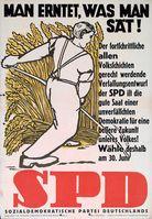 SPD: Man erntet, was man sät! Wie wahr (1946) (Symbolbild)