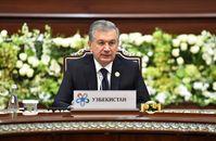 Usbekistans Präsident Mirziyoyev beim Gipfeltreffen der fünf Zentralasiensstaaten  Bild: Berliner Telegraph UG Fotograf: Berliner Telegraph UG