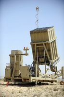 Iron Dome ist ein israelisches mobiles Raketenabwehrsystem (C-RAM: Counter Rocket, Artillery and Mortar-System), das von Rafael Advanced Defense Systems Ltd. zur Abwehr von Kurzstreckenraketen entwickelt wurde.