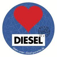 """Aufkleber Dieselherz. Bild: """"obs/AfD-Fraktion im Brandenburgischen Landtag/AfD-Fraktion im Landtag BRB"""""""