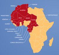 Das französische Kolonialreich in Afrika. Bild: politaia.org