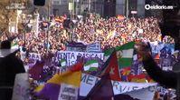 """Screenshot des Youtube Videos """"Manifestación de Podemos #YoVoy31E. 31 enero 2015"""""""