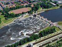 Standort Kraftwerk - CAD-Rendering / Fotomontage. © Weserkraftwerk Bremen GmbH