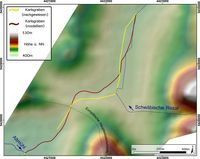 Vergleich des nachgewiesenen und modellierten Verlaufes des Karlsgrabens Quelle: Schmidt et al. 2018, PLOS ONE (idw)