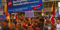 """Bild: Screenshot Youtube Video """"Pro-refugees protests riot with police, Germany Berlin (Протесты Германия)"""""""