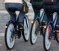 Fahrradfahrer: bald sicherer durch Laserstrahlen. Bild: pixelio.de, sokaeiko
