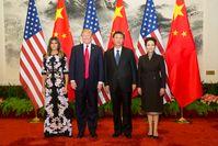 Donald Trump mit Familie beim Besuch Chinas (2017)